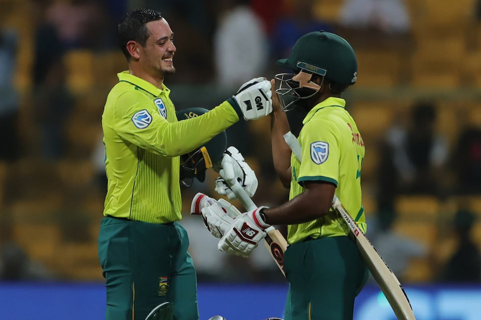 Quinton de Kock's 79* guided South Africa to a 9-wicket win. Photo courtesy: Facebook/Indian cricket team