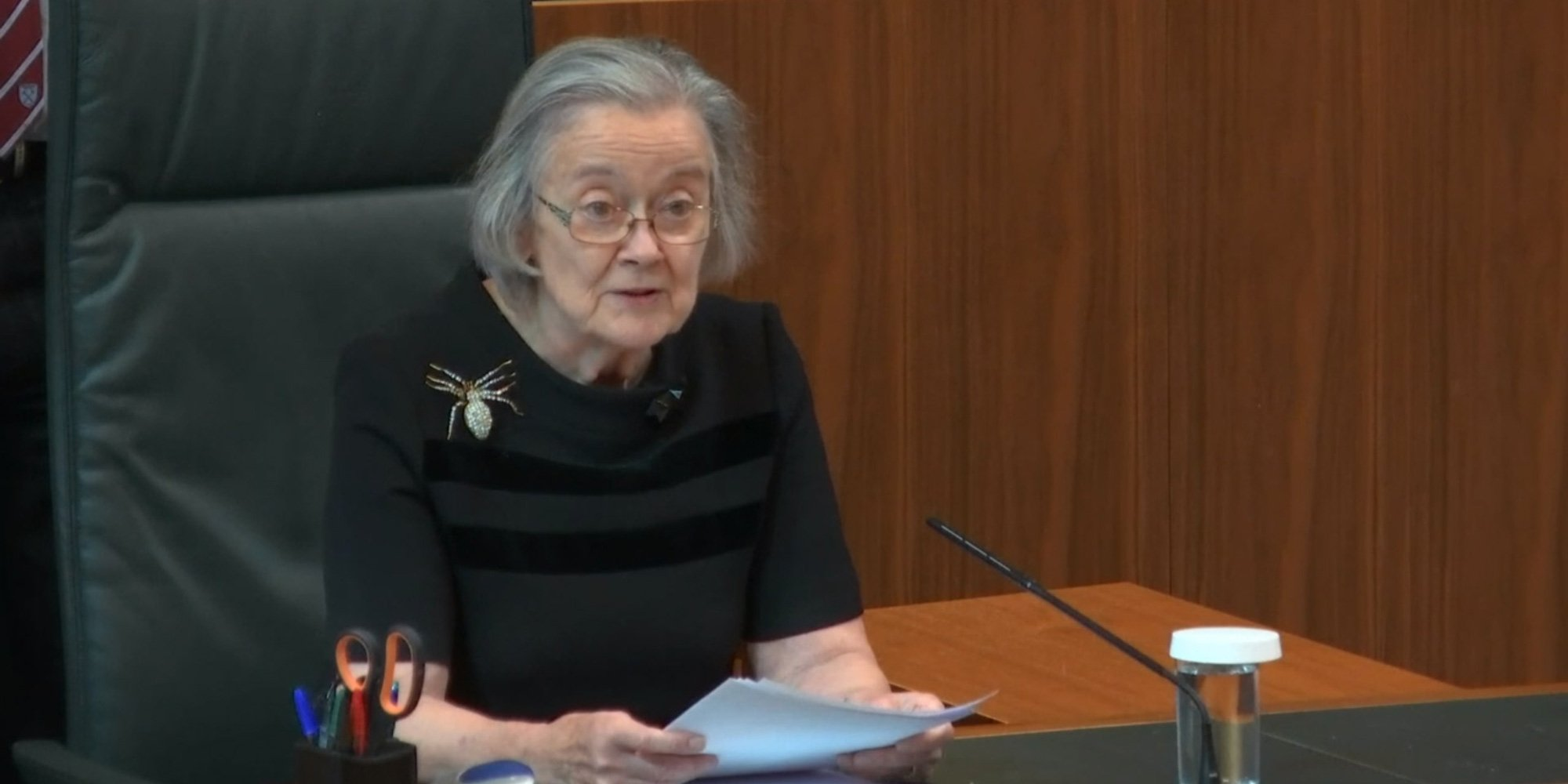 UK Supreme Court head Brenda Hale reading out the verdict. Photo courtesy: Twitter