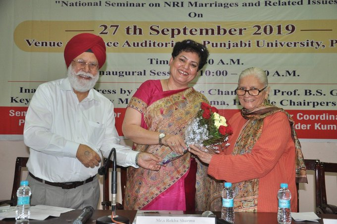 "a national seminar on ""NRI Marriages and Related Issues"" in association with"