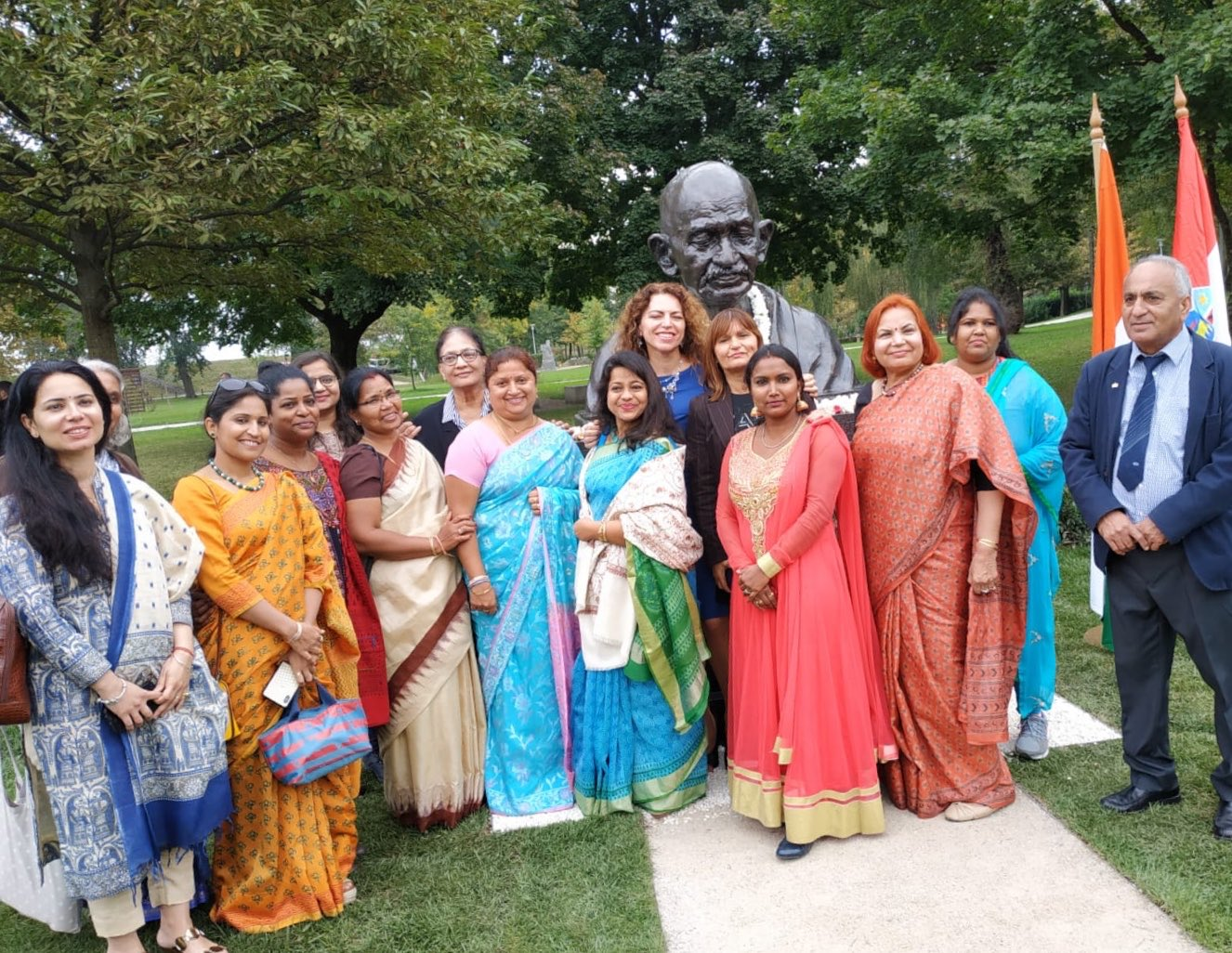Indians in Croatia come together to celebrate Gandhi at 150. Photo courtesy: Twitter/@DeeptaNagpal