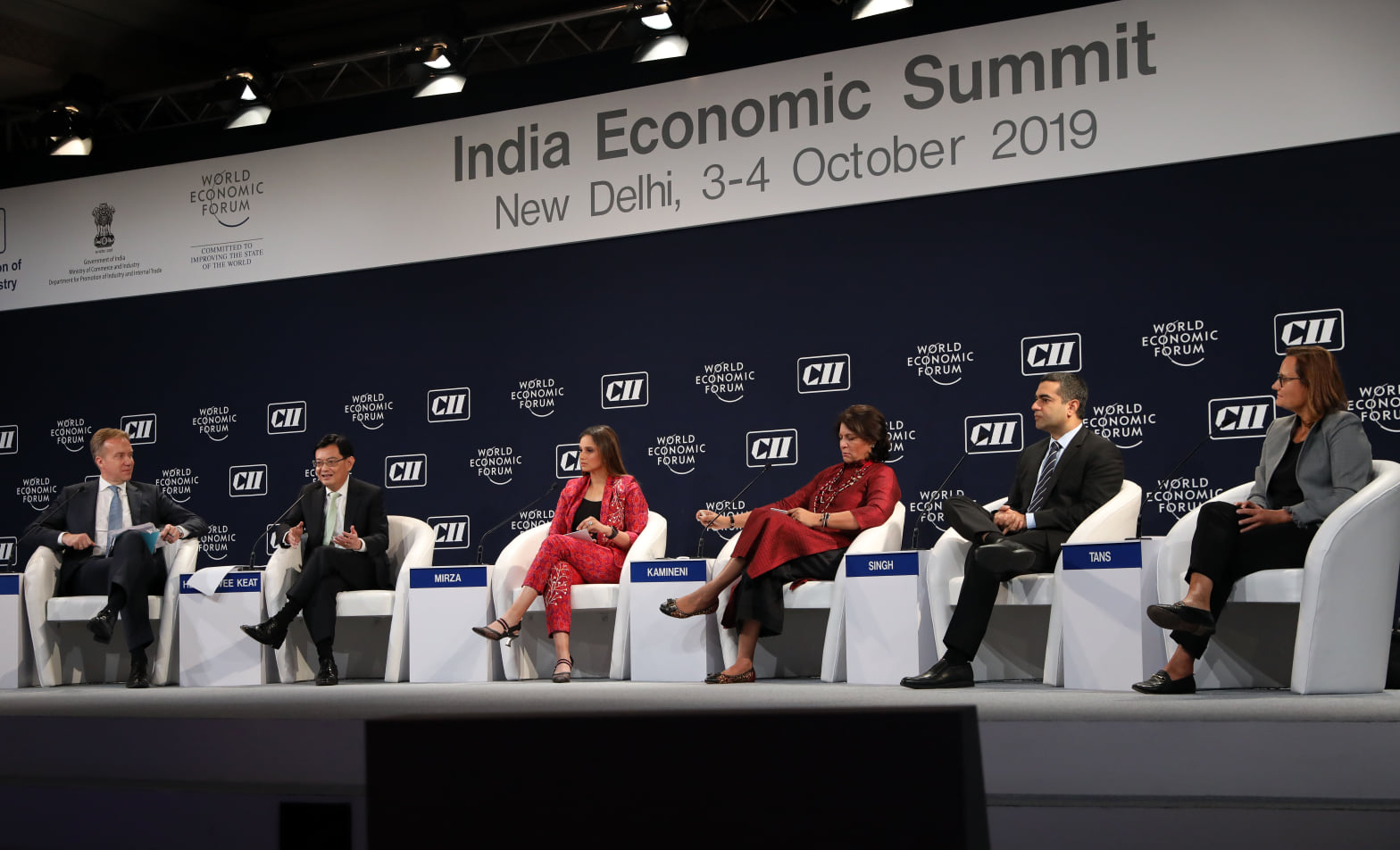 Singapore's DPM Heng Swee Keat co-chaired the India Economic Summit in New Delhi on Thursday, October 3. Photo courtesy: MCI, Fyrol