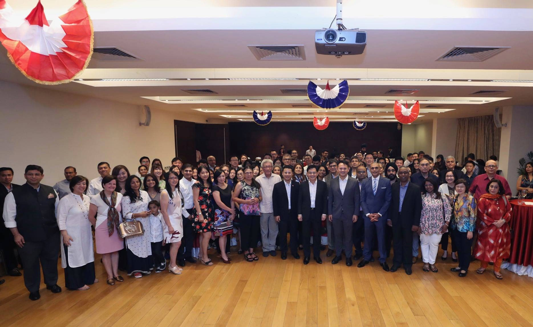 Some 100 Singaporeans gathered here at the Singapore High Commission in Delhi for the reception. Photo courtesy: MCI, Fyrol