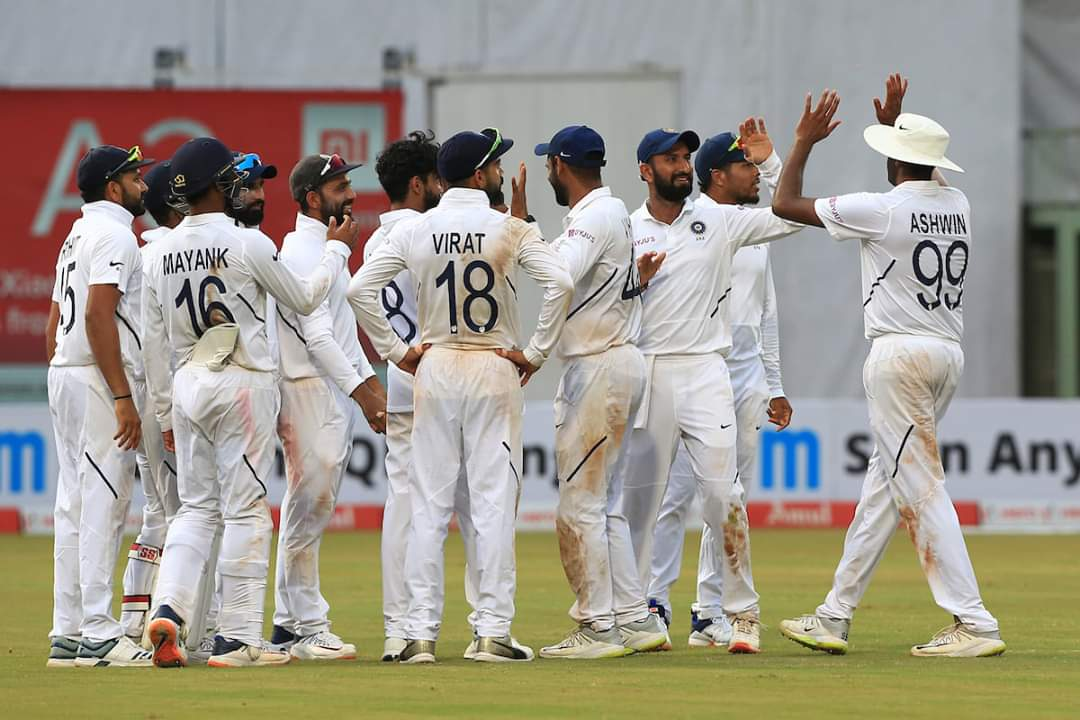 India beat South Africa by 203 runs in the first Test. Photo courtesy: Twitter/@imVkohli