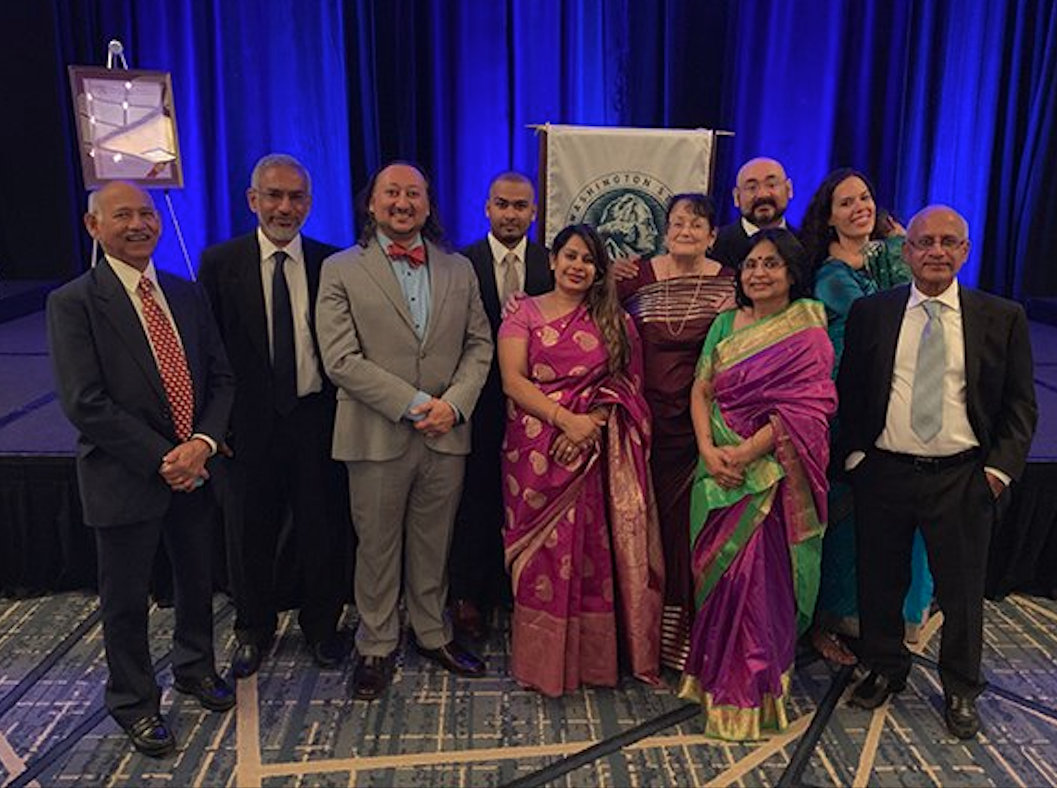 Majumdar (third from left) is the first state bar president of South Asian descent in the United States. Photo courtesy: Twitter/@WAStateBar