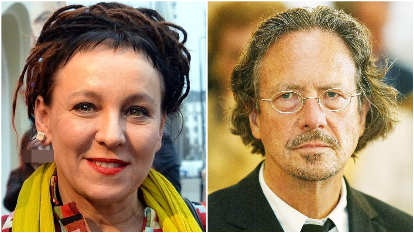 Polish author Olga Tokarczuk (left) and Austrian author Peter Handke (right) have won the Nobel Prize for Literature for 2018 and 2019 respectively. Photos courtesy: Wikimedia