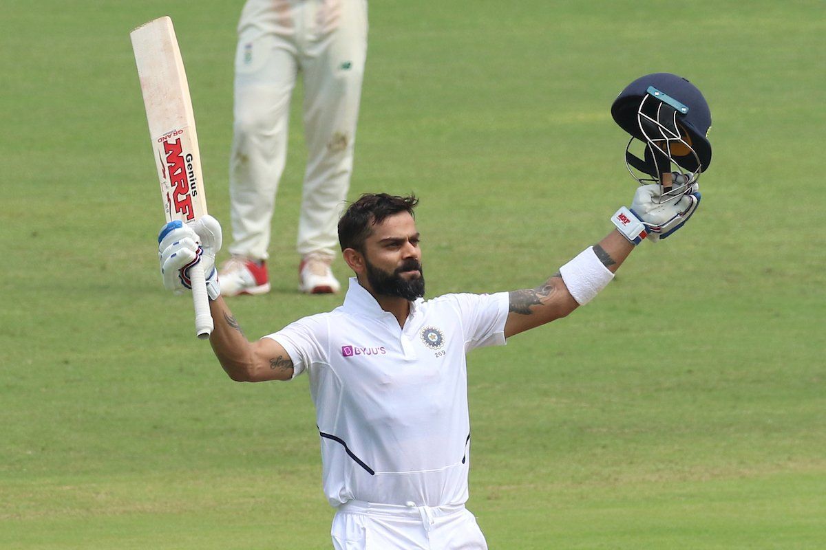 Virat Kohli scored his seventh double ton in the 2nd Test against South Africa. Photo courtesy: Twitter/@BCCI