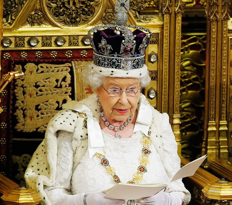 Queen Elizabeth II delivered her speech in a parliamentary ceremony on Monday. Photo courtesy: Twitter/@ispreview