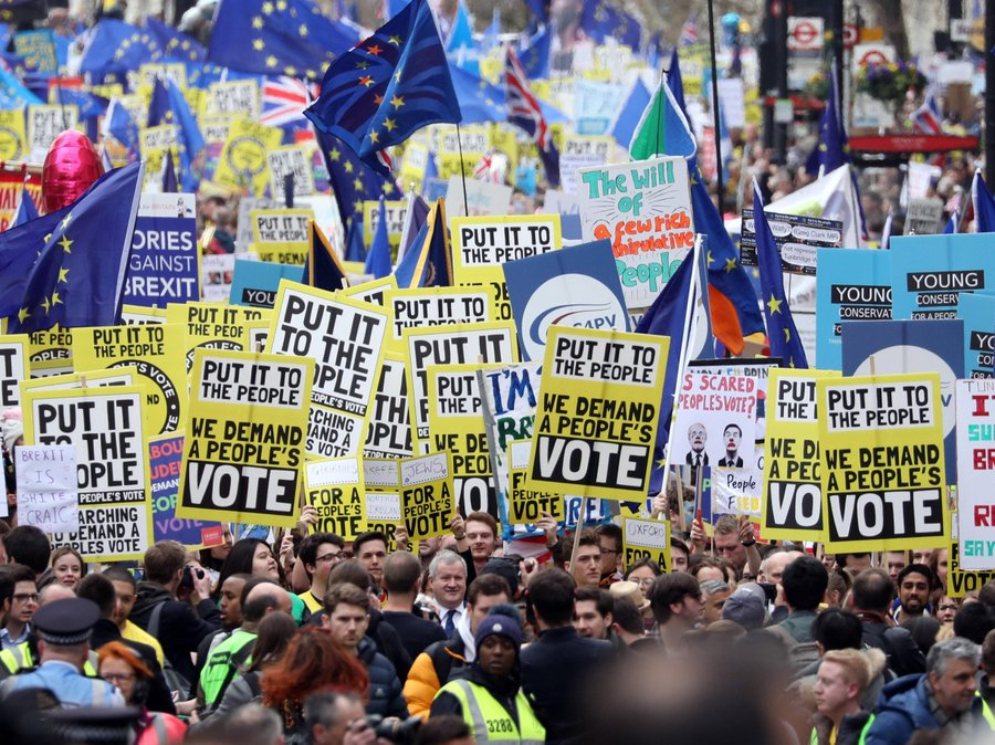 Campaigners are calling on the government for a Final Say vote on any Brexit agreement or no-deal outcome.
