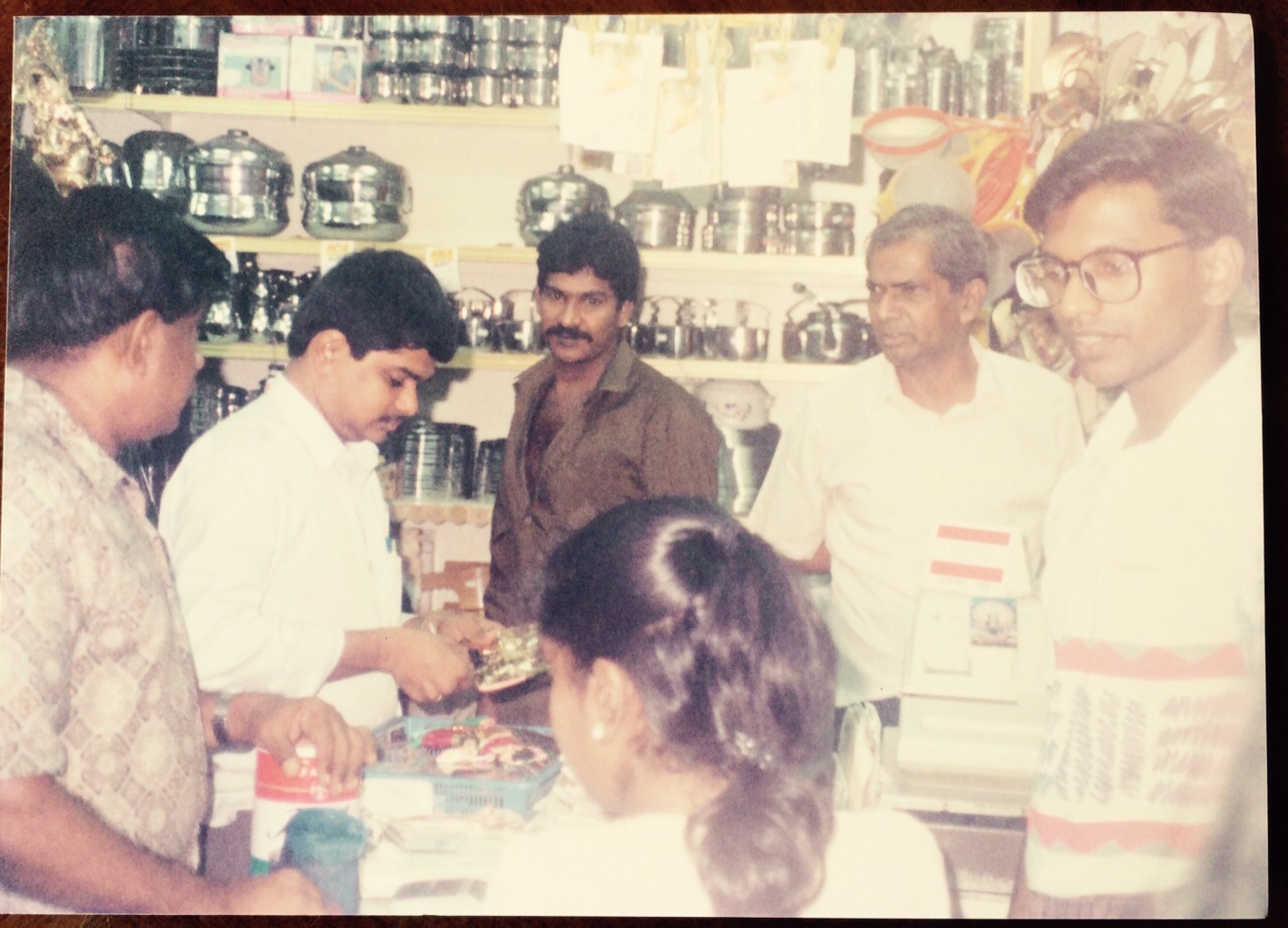Though new to the business Raja Kumar Chandra took daring decisions like ordering thousands of dollars of stainless steel household utensils which sold out in a few days. Photo courtesy: Raja Kumar Chandra