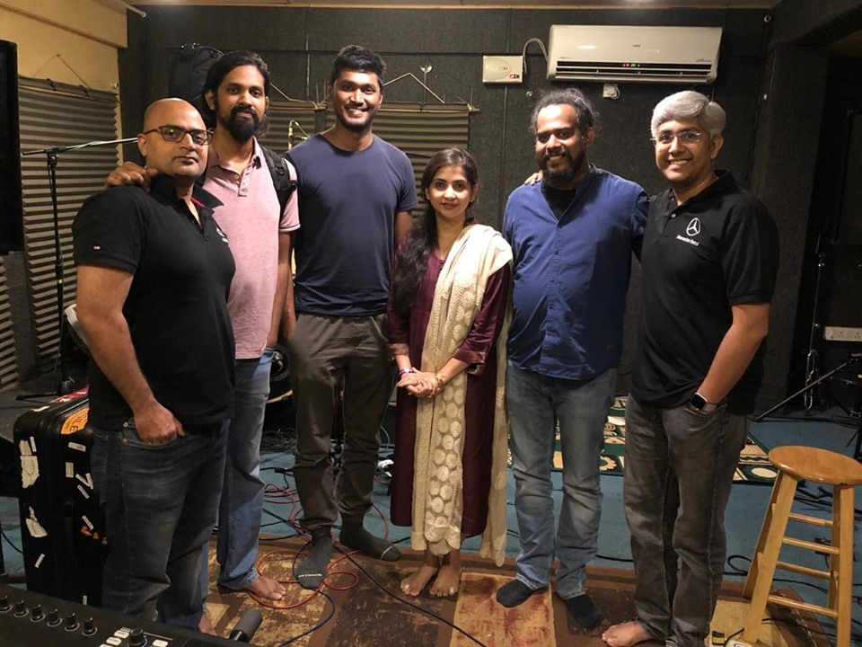 Carnatic rockers AGAM collaborate with hindustani classical vocalist Kaushiki Chakraborty in a special segment conceptualised by Sai Shravanam. Photo courtesy: Facebook/ Kalaa Utsavam - Indian Festival of Arts