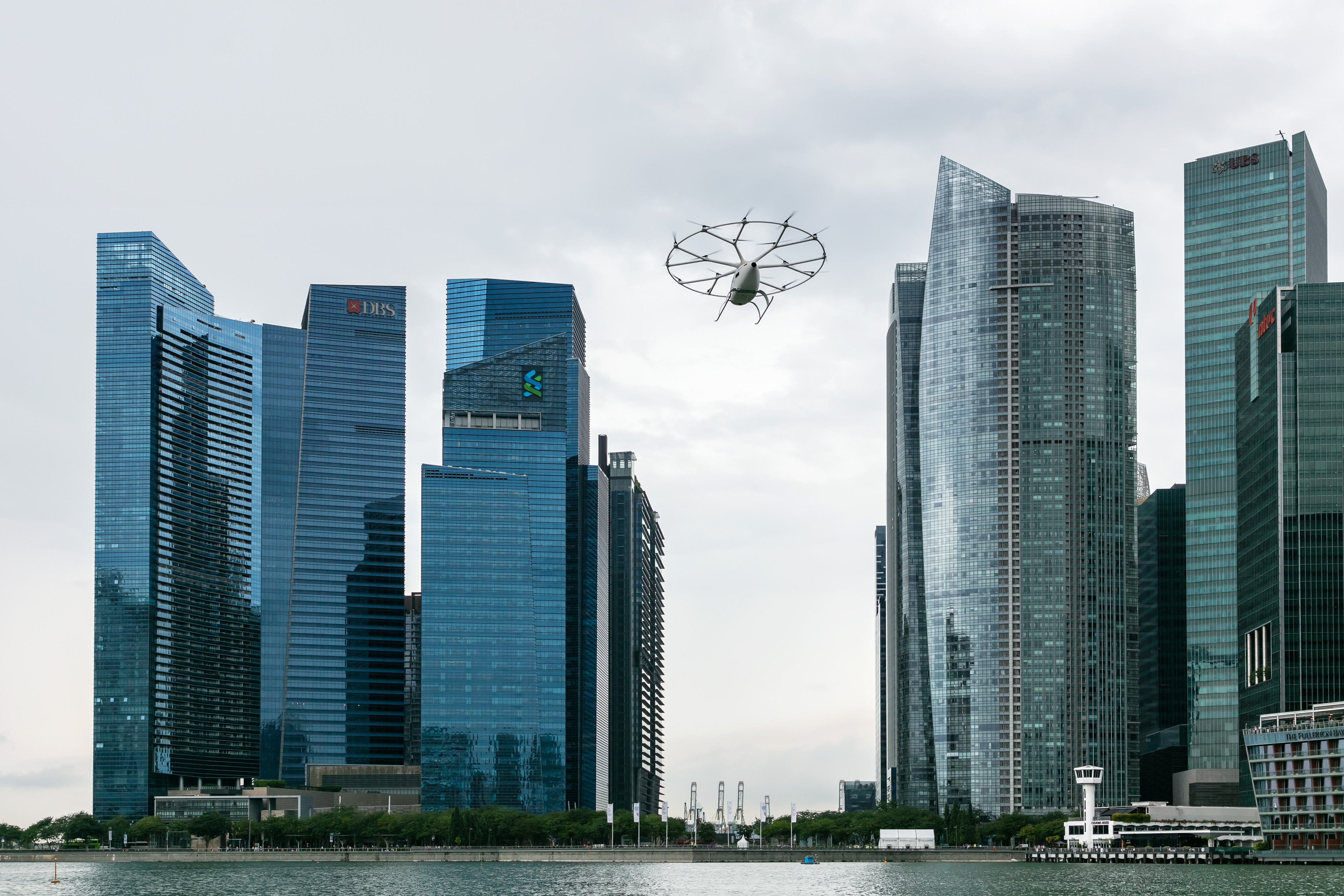 The Ministry of Transport, the Civil Aviation Authority of Singapore and the Economic Development Board have supported Volocopter. Photo courtesy: Nikolay Kazakov for Volocopter