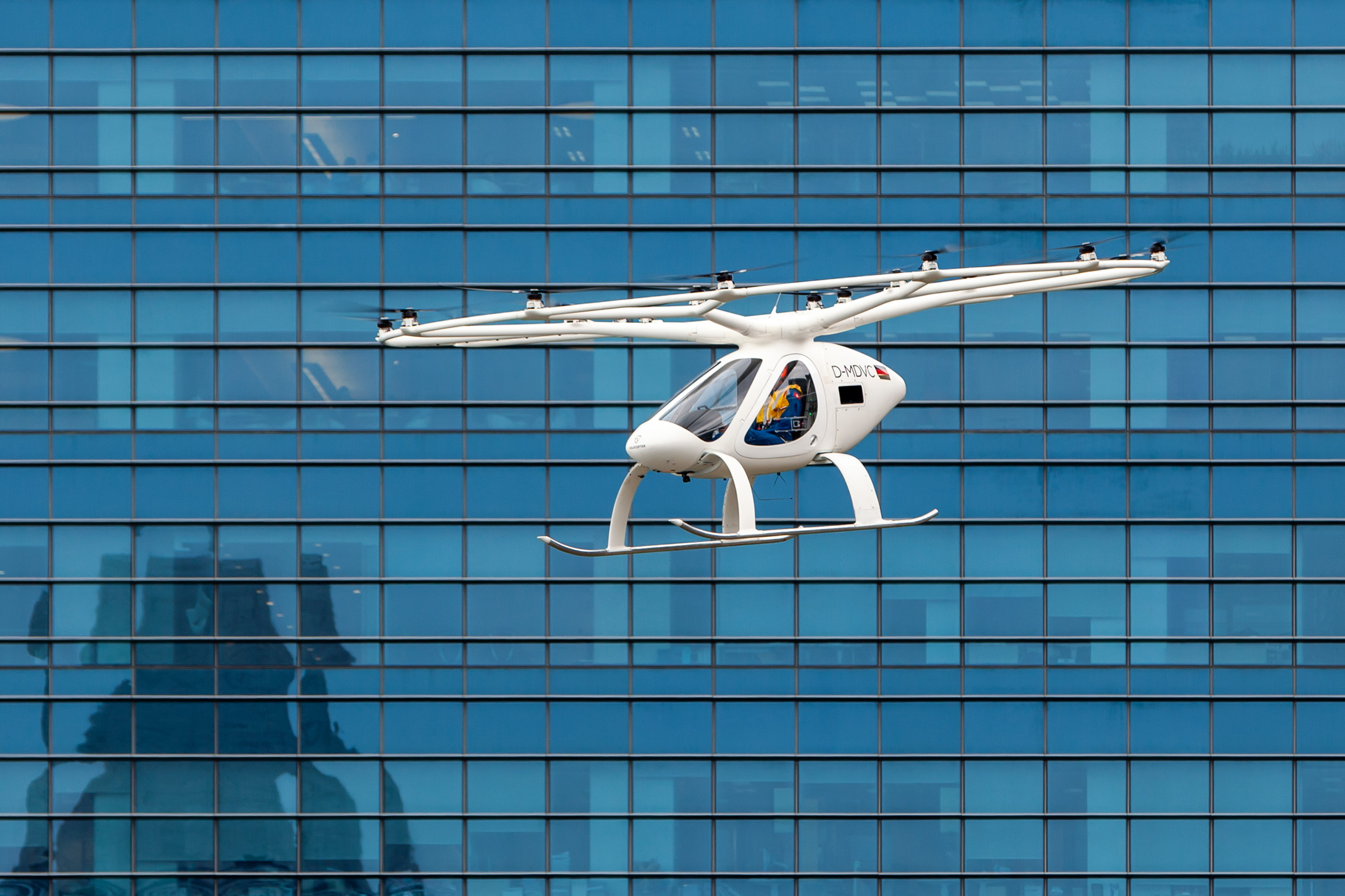 The flight covered a distance of approximately 1.5 km and lasted for two minutes. Photo courtesy: Nikolay Kazakov for Volocopter