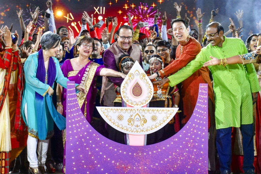 S Iswaran, Minister for Communications and Information and Minister-in-charge of Trade Relations, graced Amarkala Deepavali as the guest of honour. Photo courtesy: Mediacorp