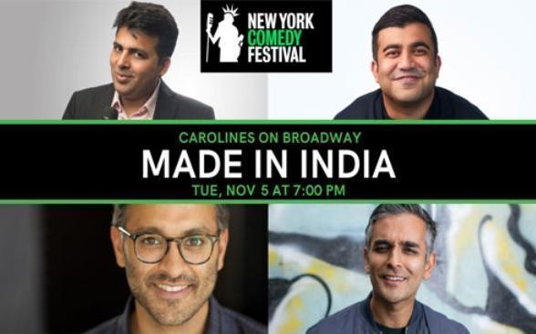 Indian comedy stars, Amit Tandon, Sanjay Manaktala, Tushar Singh and Arun Govada on their New York Comedy Festival debut
