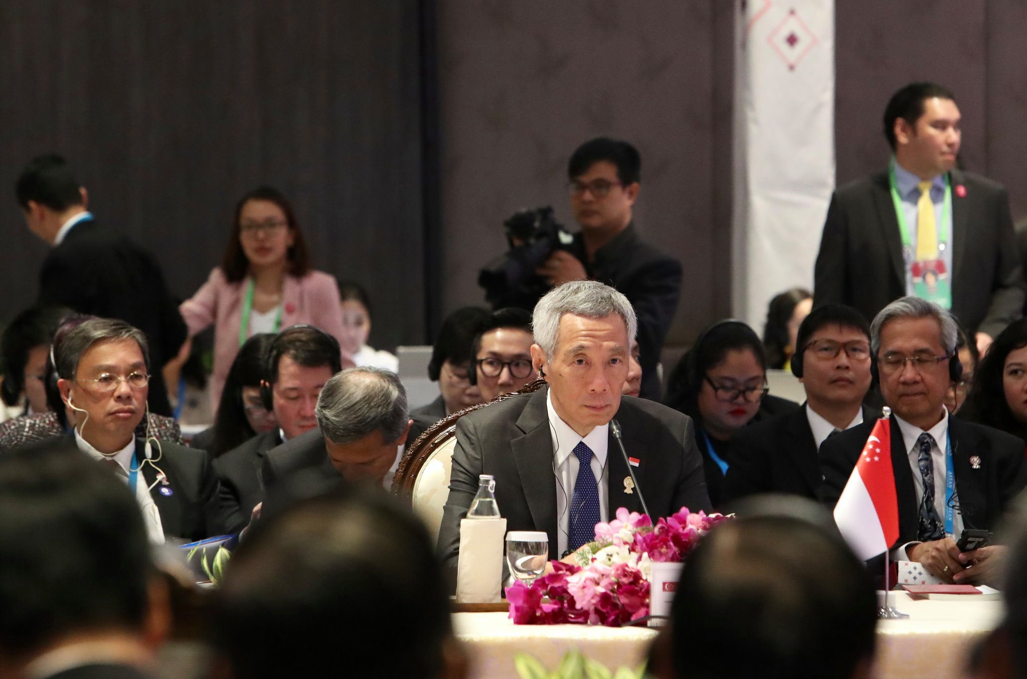 Singapore's Prime Minister Lee Hsien Loong at the 16th ASEAN-India Summit held in Bangkok, Thailand. Photo courtesy: Betty Chua, MCI