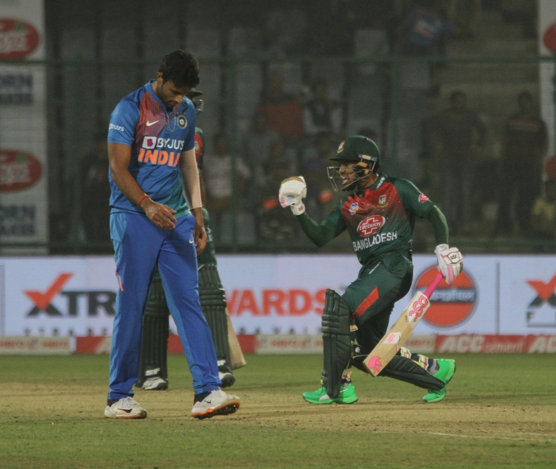 Bangladesh won their first T20I against India in nine attempts. Photo courtesy: Twitter/@BCBTigers