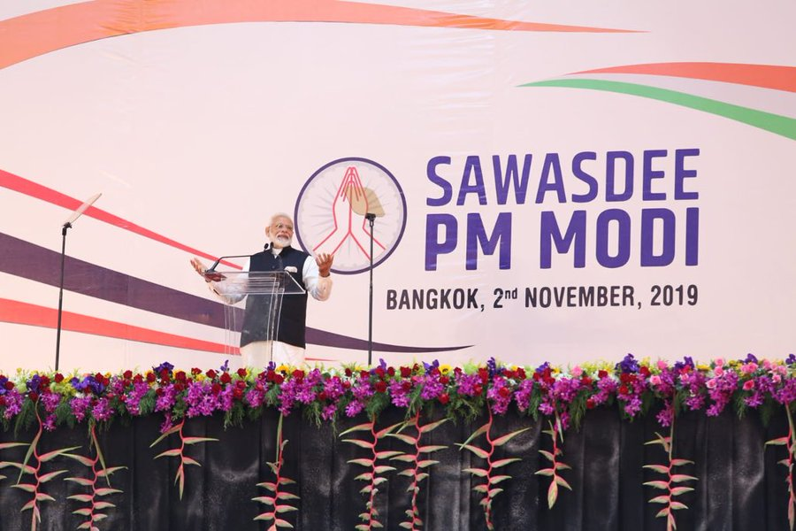 "Modi said he welcomed ""the decision to re-examine the India-ASEAN FTA""."