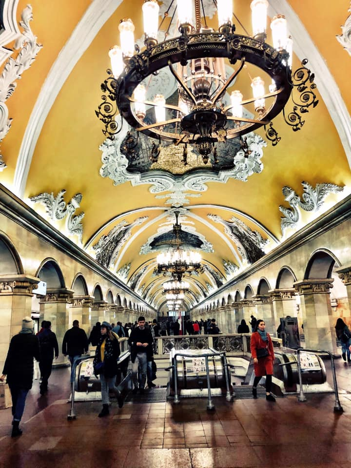 Moscow's metro system is more than just a means of transportation. It is an insight into Russia's Soviet history. Photo courtesy: Ramya Chandrashekaran/Facebook