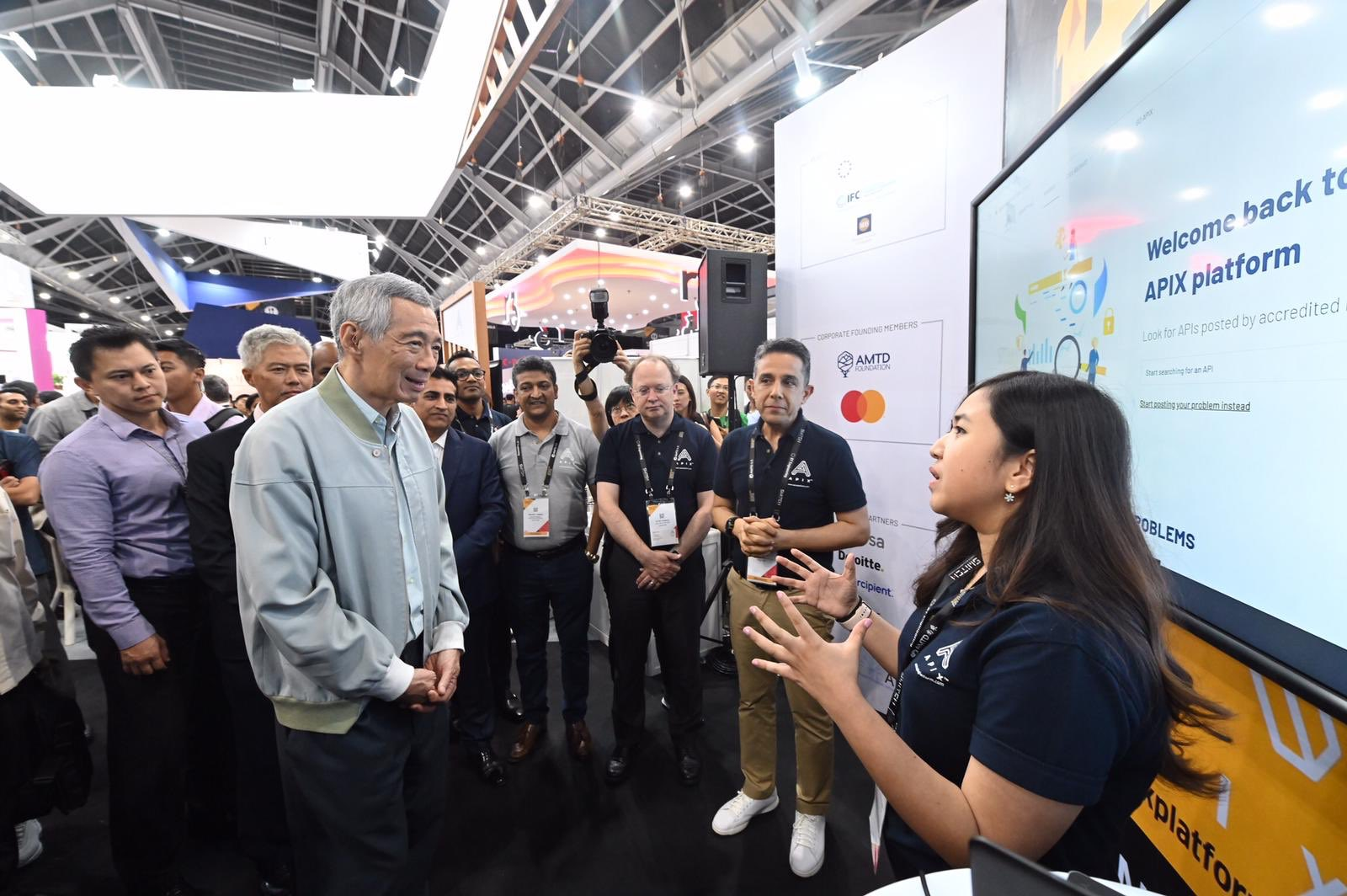 Singapore Prime Minister Lee Hsien Loong at the Singapore FinTech Festival 2019. Photo courtesy: Twitter/@sgfintechfest