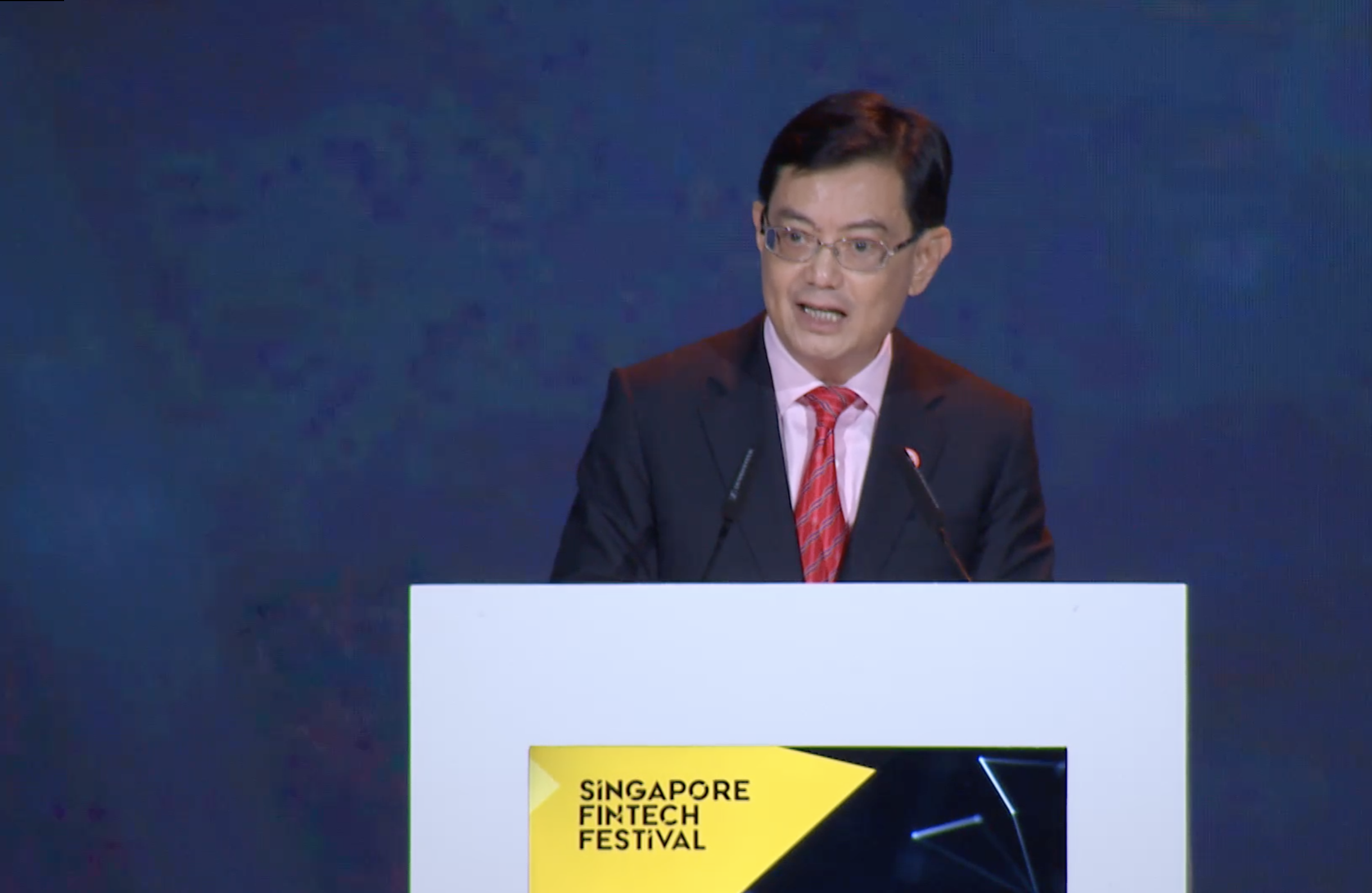 Deputy Prime Minister Heng Swee Keat announced the launch of the Open Innovation Network (OIN) at the Singapore Fintech Festival x Singapore Week of Innovation and TeCHnoloy (SFF x SWITCH). Photo courtesy: IMDA