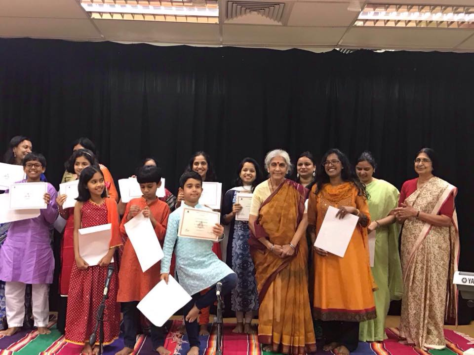 Ms Kalyani Puranik has taught students across races and cultures at the Temple of Fine Arts, Singapore. Photo courtesy: Facebook/@DidiKalyaniPuranik
