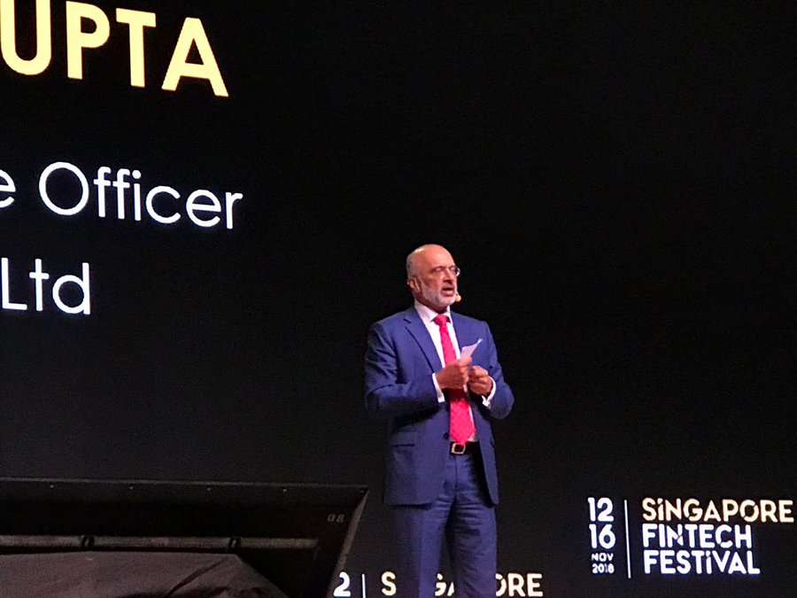 Piyush Gupta, CEO, DBS, in his speech on the Festival Stage of the Singapore FinTech Festival 2019, said that the