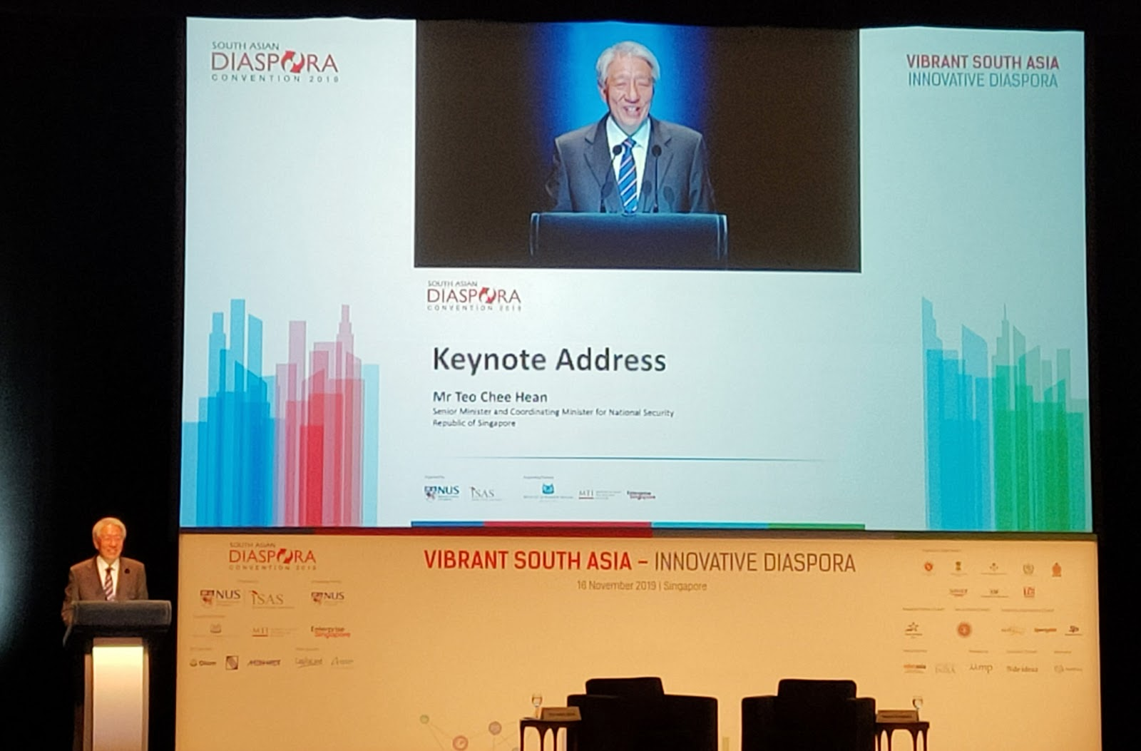 SM Teo Chee Hean in his keynote touched upon gap between education and employment, the opportunities and exposure available and said the quality of experience of interning abroad is more important than numbers. Photo: Connected to India