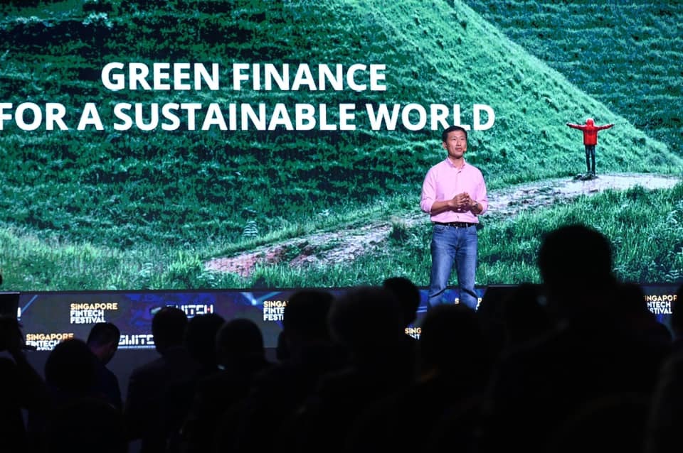 At the opening of the SFF x SWITCH 2019, Minister for Education Ong Ye Kung outlined Singapore's vision to be a leading centre for Green Finance in Asia and the world. Photo courtesy: Ong Ye Kung FB