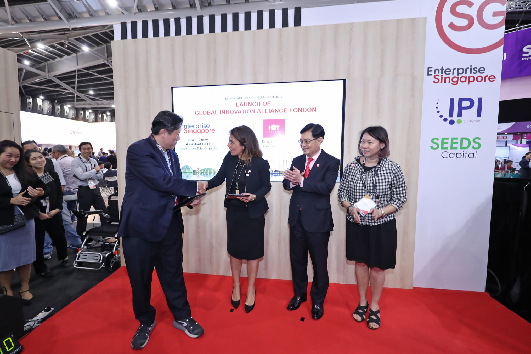 The expansion of Global Innovation Alliance (GIA) will plug Singapore technology startups and SMEs into the innovation ecosystem in the UK through London, as well as support UK-based startups to scale up in Asia by using Singapore as a springboard, said DPM Heng Swee Keat. Photo courtesy: MCI Clement