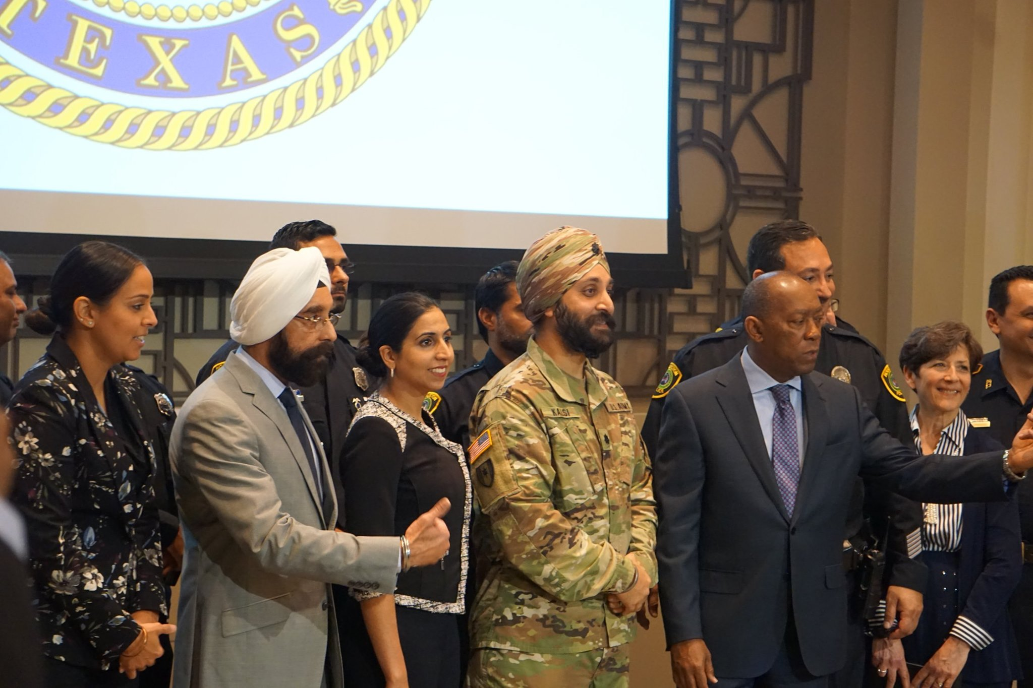 Mayor Sylvester Turner started the press conference remembering and thanking Deputy Sandeep Singh Dhaliwal, a Sikh-American police officer who was shot while conducting a traffic stop earlier in the year.