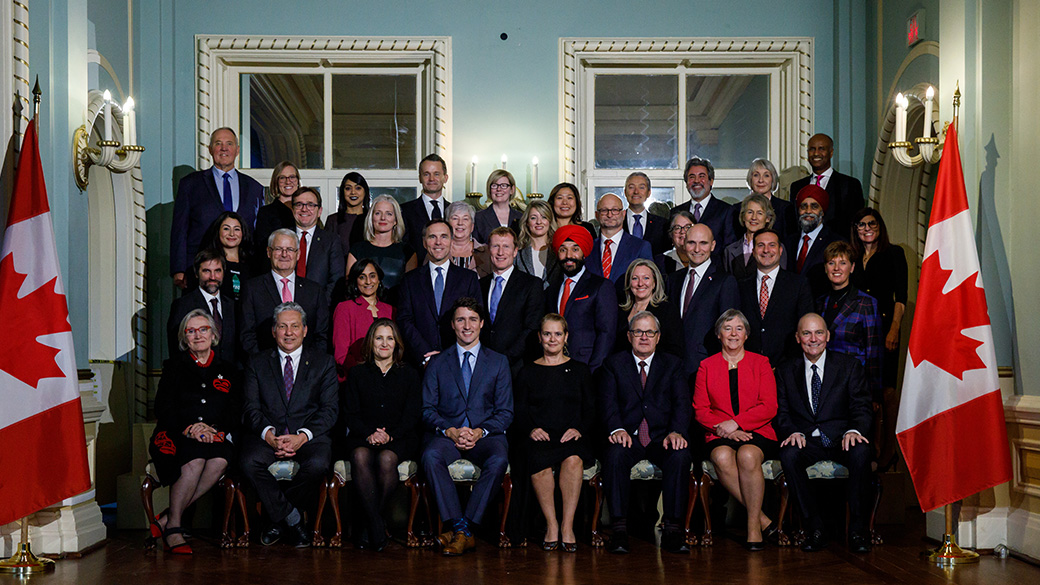 The full lineup of the 29th federal ministry was announced at a Rideau Hall swearing-in ceremony overseen by Governor-General Julie Payette.