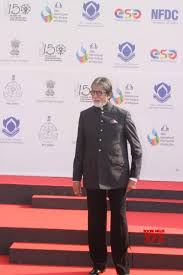 Amitabh Bachchan at the red carpet for the inauguration of the 50th International Film Festival of India being held in Goa. Photo Courtesy: IFFI