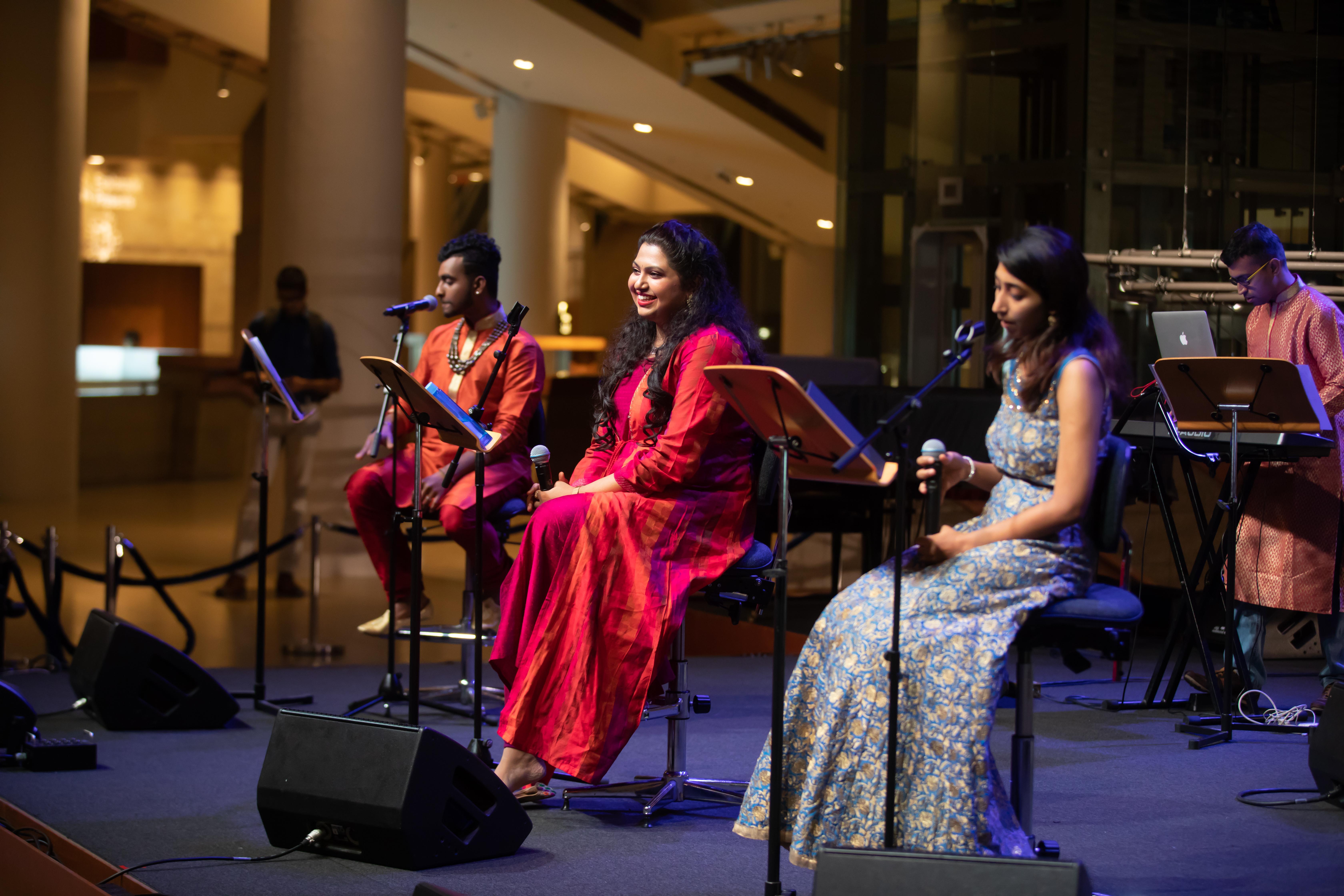 Raaga Rhapsody presented amazing raga-based fusions and medleys at the Esplanade concourse. Photo courtesy: Esplanade