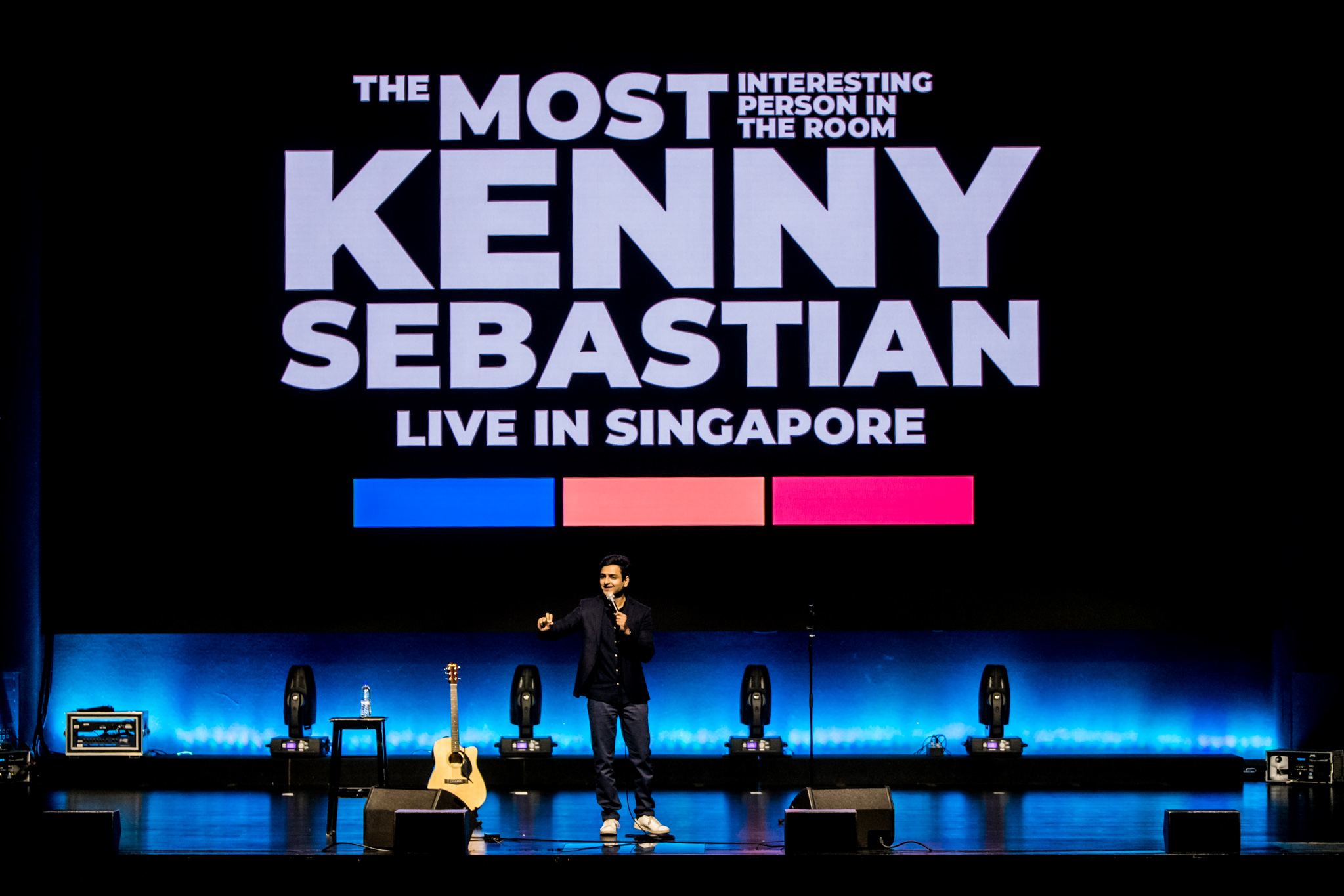 Bangalore-based comedian Kenny Sebastian brought his all-new comedy special show ​'​The Most Interesting Person In The Room' to Shine Auditorium in Singapore. Photo courtesy: LAMC