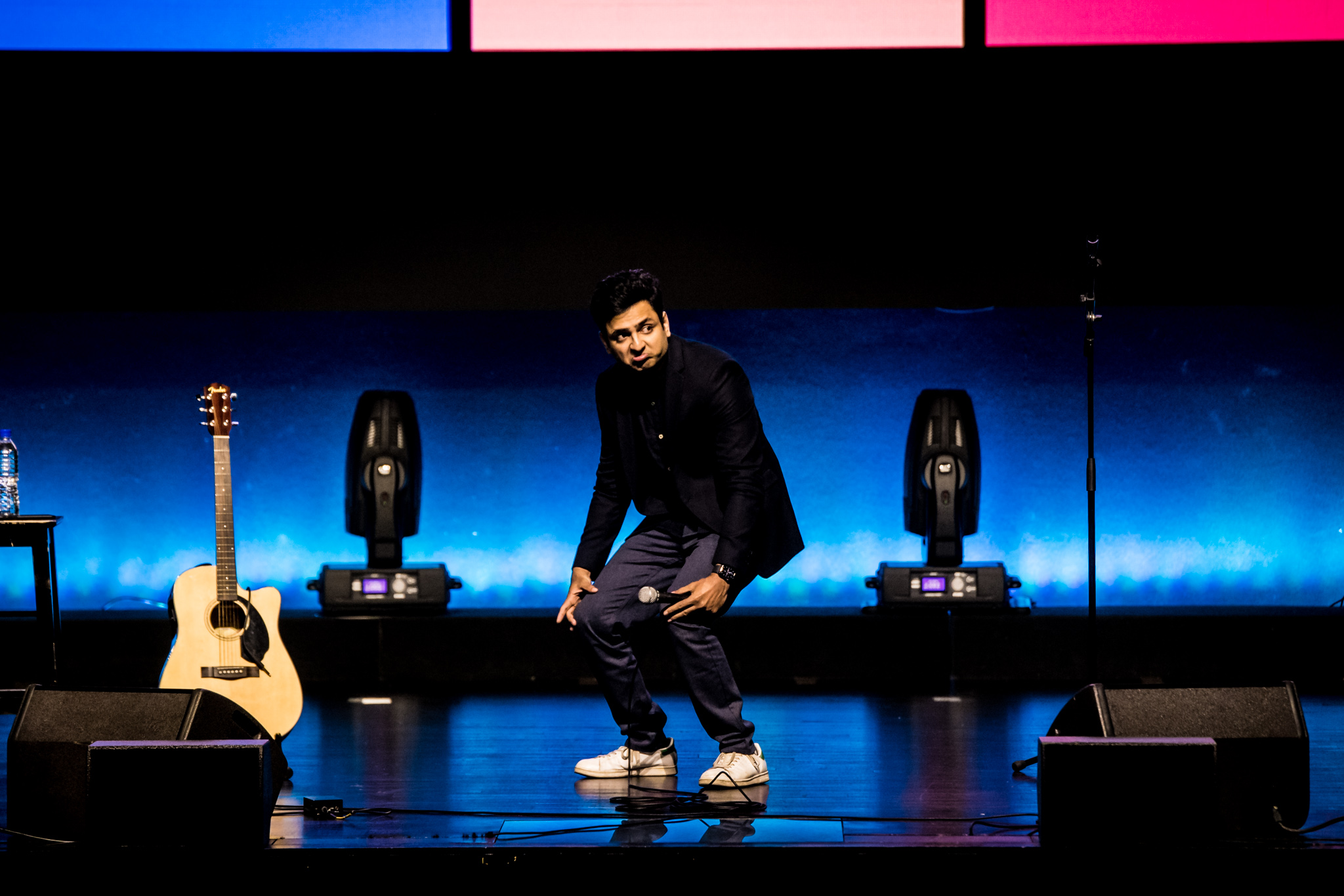 Kenny Sebastian's relatable jokes and imitations had the audience roaring with laughter. Photo courtesy: LAMC