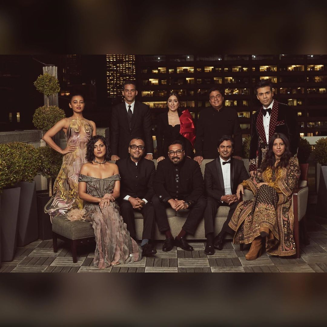 Radhika Apte shared a picture of the entire team of Lust Stories and Sacred Games together at the Emmys. She captioned it,