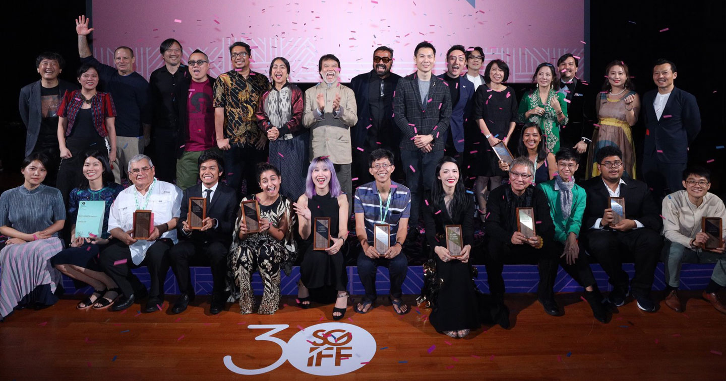 Southeast Asian Film talents recognised under various categories at the 30th Singapore International Film Festival's Silver Screen Awards, pose with the jury members. Photo Courtesy: SGIFF