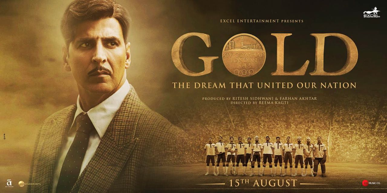 Gold tells the story of India's first Olympic hockey gold medal at the 1948 Summer Olympics. Poster courtesy: Zee Studios International