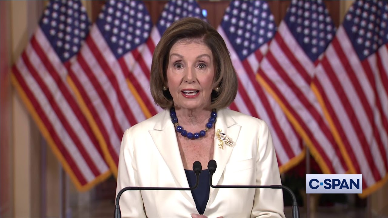 """The President abused his power for his own personal political benefit at the expense of our national security,"" Pelosi said."