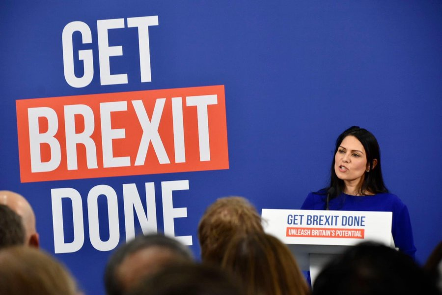 Patel has spoken out about increasing border security and launching a points-based immigration system in her campaign