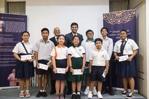 In 2018, Mohamed Irshad (centre) was appointed by the President of Singapore as one of the youngest Nominated Member of Parliament.  Photo Courtesy: Ameerali Abdeali