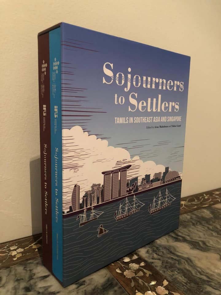 """Sojourners to Settlers""  comes in two volumes. Photo courtesy: Mr S Iswaran FB page"
