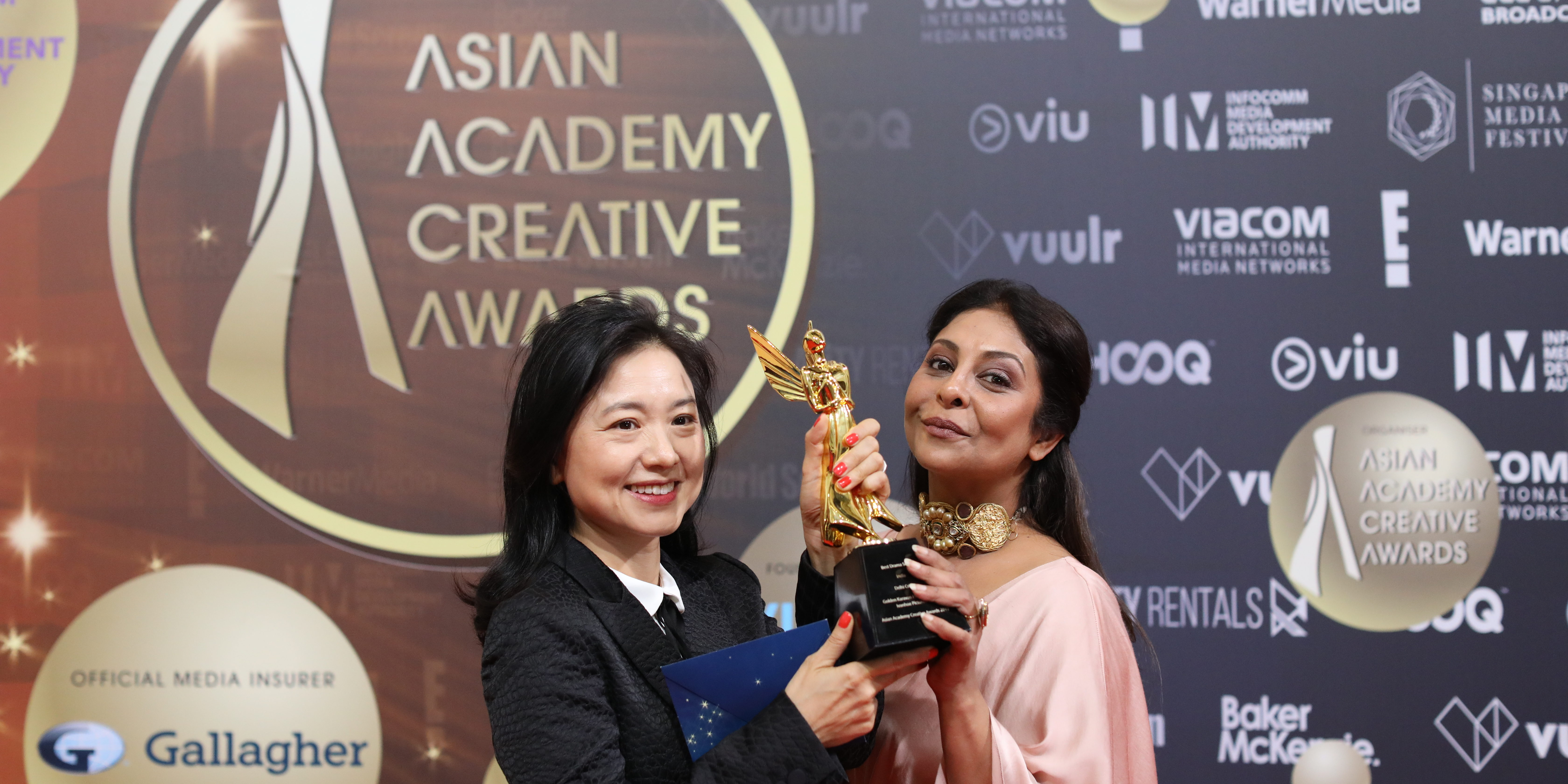 Best Actress In A Leading Role was clinched by Shefali Shah for the Netflix Series 'Delhi Crime' at the Asian Academy Creative Awards 2019 held in Singapore. Photo Courtesy: AAA