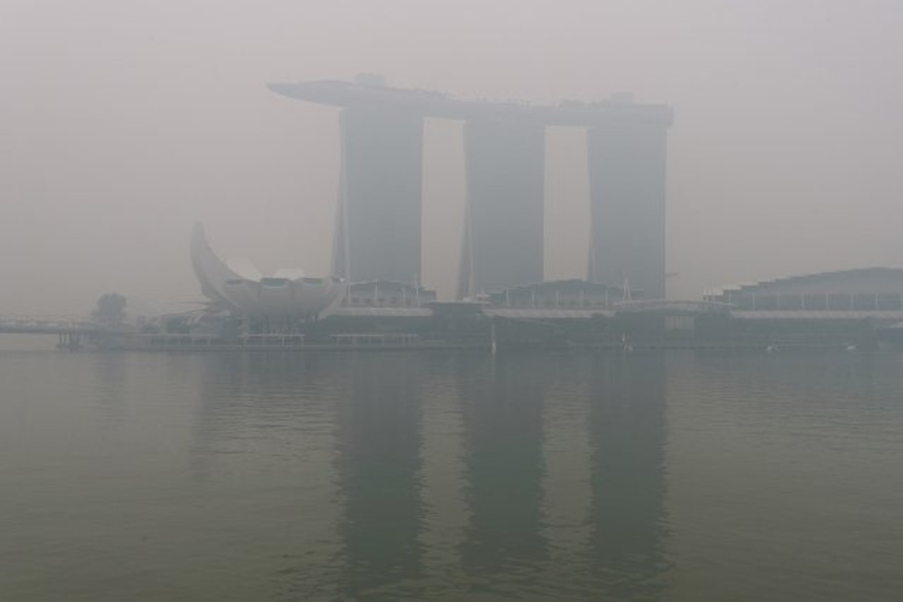 Singapore's haze was the most searched on Google by residents of the island nation. Photo courtesy: Twitter/@SmartAirFilters