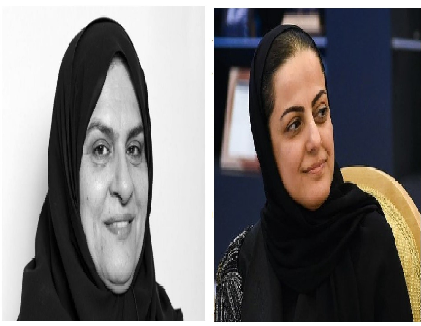 Left, UAE's Raja Easa Al Gurg, first ever Emirati woman appointed to board of HSBC Bank Middle East Limited and right, Rania Nashar with over 20 years of experience in commercial banking sector. Photo Courtesy: Forbes/ Twitter