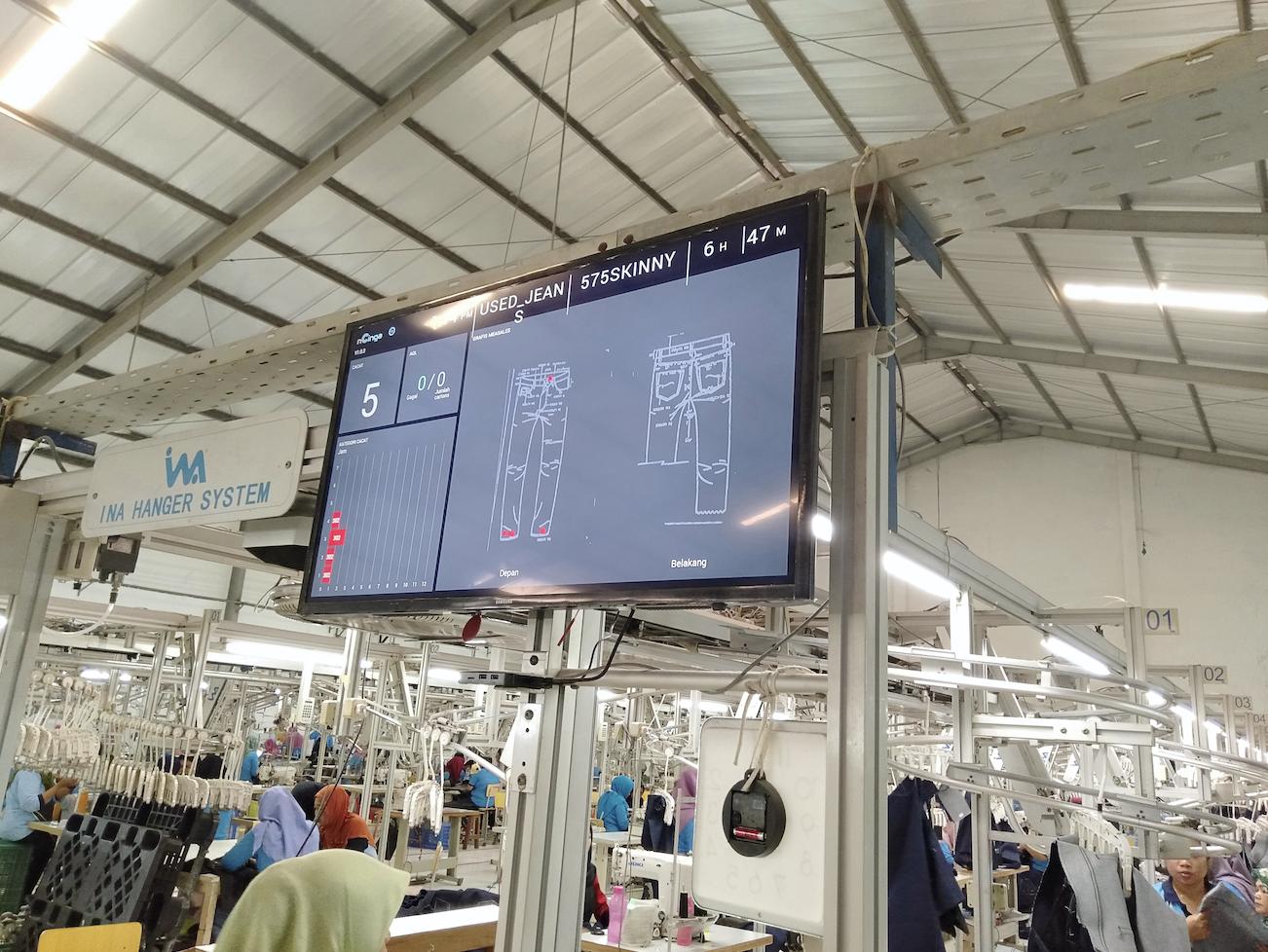Zilingo's production software on the factory floor. Photo courtesy: Zilingo