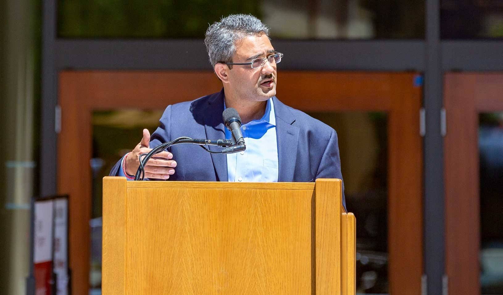 Amit Seru has been appointed the MAS Term Professor in Economics and Finance. Photo courtesy: Stanford University