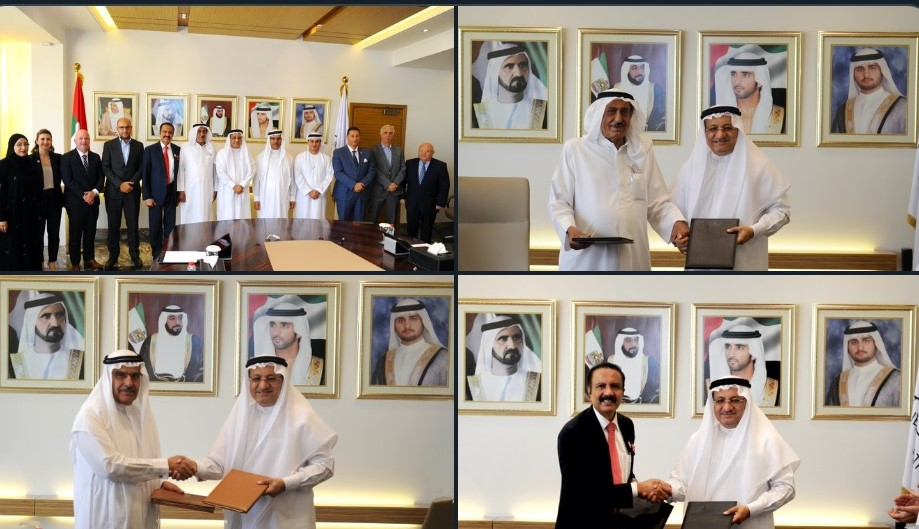 "DHA signed three MoUs with Kings College Hospital in Dubai, Al Zahra Hospital Dubai and Medcare Hospital to support the implementation of Article Five of the Fifty-Year Charter—""A Doctor for every citizen"". Photo Courtesy: DHA Twitter"