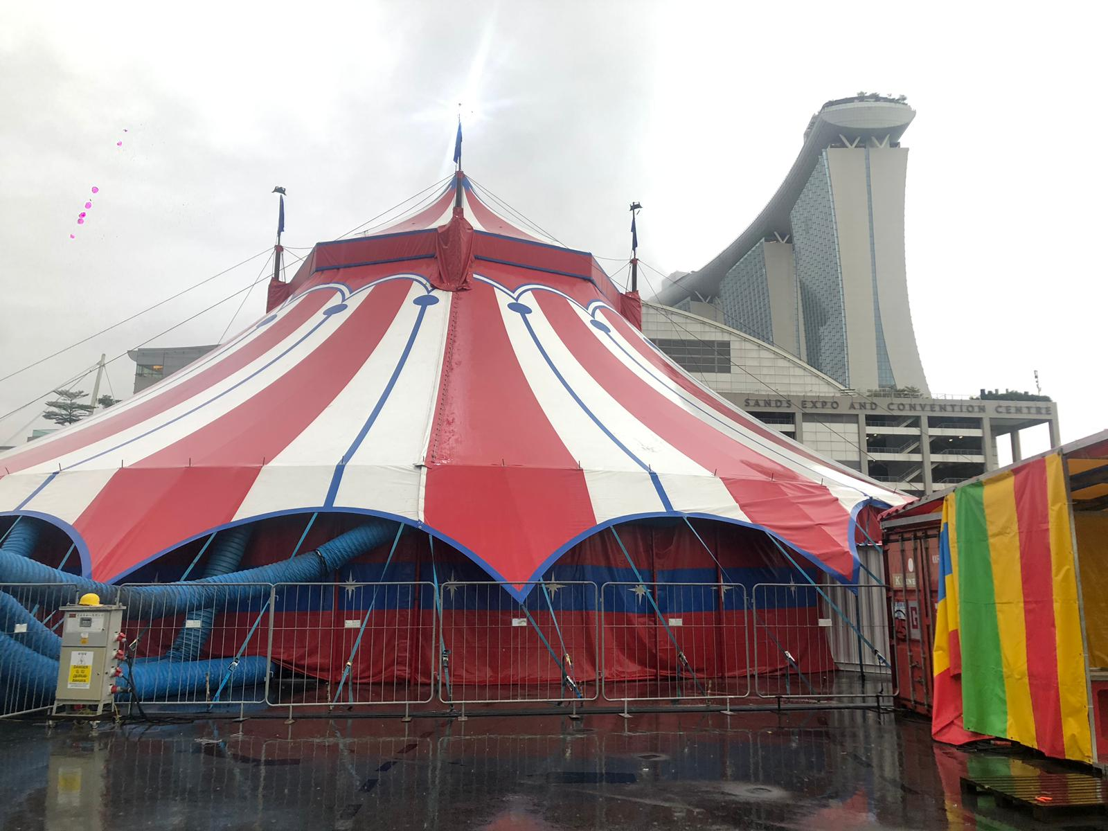 The Big Top of the Great Circus of Europe, Venue: Bayfront Event Space, 12A Bayfront Avenue, Singapore 018970, From: 3pm to 11pm, Dec 20 to Jan 1. Photo Credit: Connected to India
