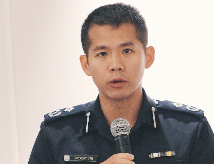Assistant Commissioner of Police (AC) Gregory Tan Siew Hin. Photo courtesy: Connected to India